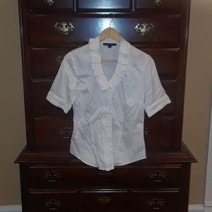 Antonio Melani White Blouse Shirt Top Size S Small
